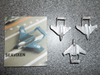 Sea Vixen Jet - Fixed Wings (Pack of 3)